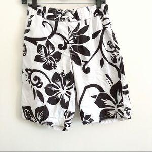 Old Navy Floral Swim Trunks Shorts
